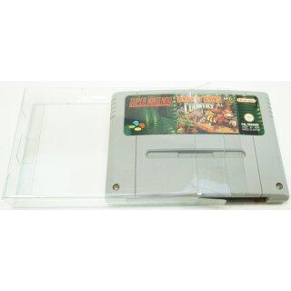Klarsicht Schutz Hülle Super Nintendo SNES Spiel Modul Cartidge 0,3 mm