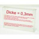 Klarsicht Schutz Hülle Super Nintendo SNES + Nintendo 64 / N64 Spiel Verpackung OVP 0,3 mm Dünn