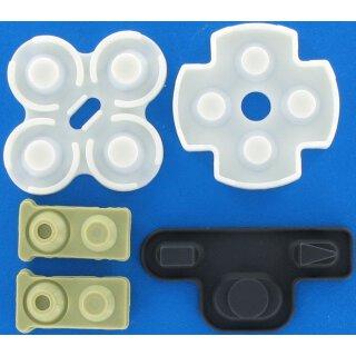 Tastengummis / Gummi Pads / Gummimatten / Kontaktgummi / Ersatzgummi / Rubber Pads / Reparatur Set passend für Sony Playstation 3 / PS3 Controller