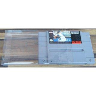 Klarsicht Schutz Hülle 0,3 mm Dünn Super Nintendo SNES USA Spiel Modul Cart