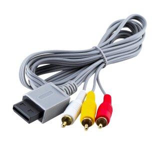 Nintendo AV TV Kabel für Wii / Wii U Konsole 3-RCA Anschluss Audio Video Chinch Fernsehkabel
