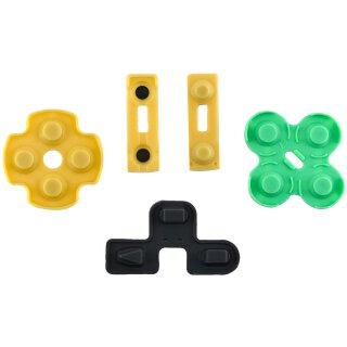 Tastengummis / Gummi Pads / Gummimatten / Kontaktgummi / Ersatzgummi / Rubber Pads / Reparatur Set passend für Sony Playstation 2 / PS2 Controller